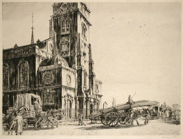 St. Clement Danes by Francis Edgar Dodd - Davidson Galleries
