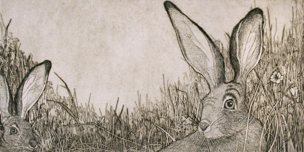 Black Tailed Jack Rabbits by Tallmadge Doyle - Davidson Galleries