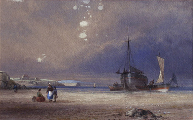 Beach Scene with Boats by Edward Duncan, R.W.S. - Davidson Galleries