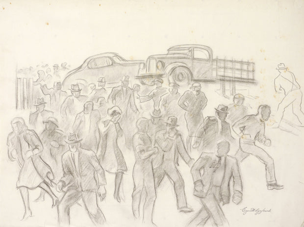 Running Crowd by Eugene Dyczkowski - Davidson Galleries