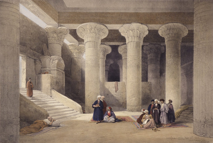Temple at Esneh by David Roberts - Davidson Galleries