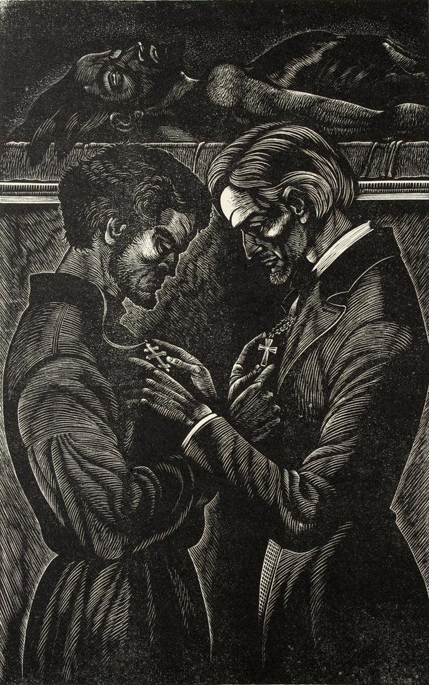 Exchanging Crosses by Fritz Eichenberg - Davidson Galleries