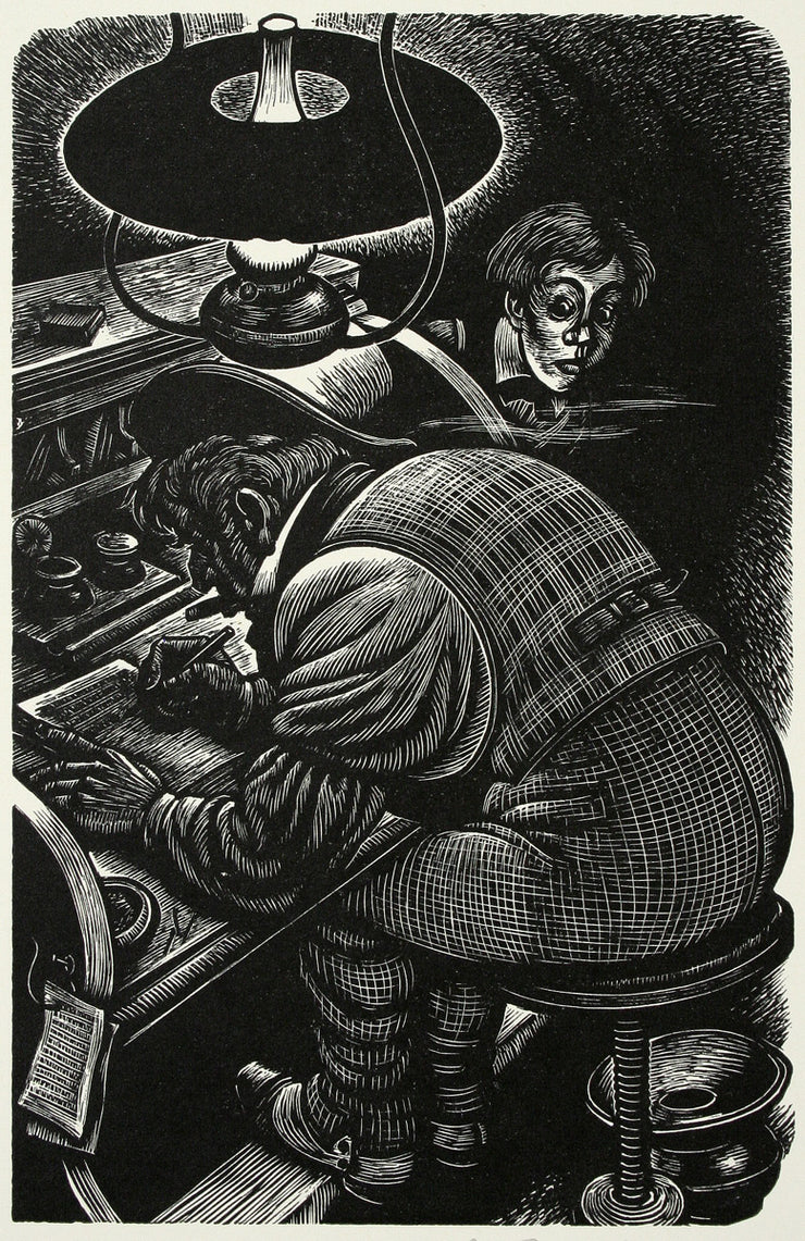X-Ing a Paragrab by Fritz Eichenberg - Davidson Galleries