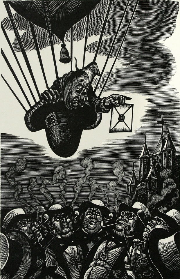 The Unparalleled Adventure of One Hans Pfaall by Fritz Eichenberg - Davidson Galleries