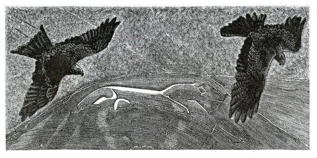 White Horse, Red Kites by Andy English - Davidson Galleries