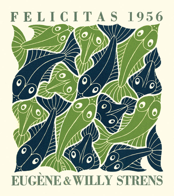 Water (Strens New Year's Greeting Card 1956) by M. C. Escher - Davidson Galleries