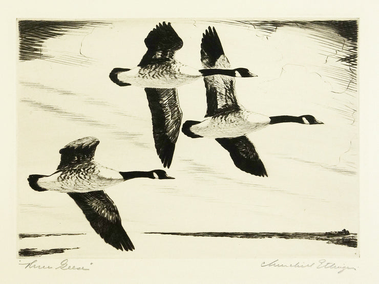 Three Geese by Churchill Ettinger - Davidson Galleries