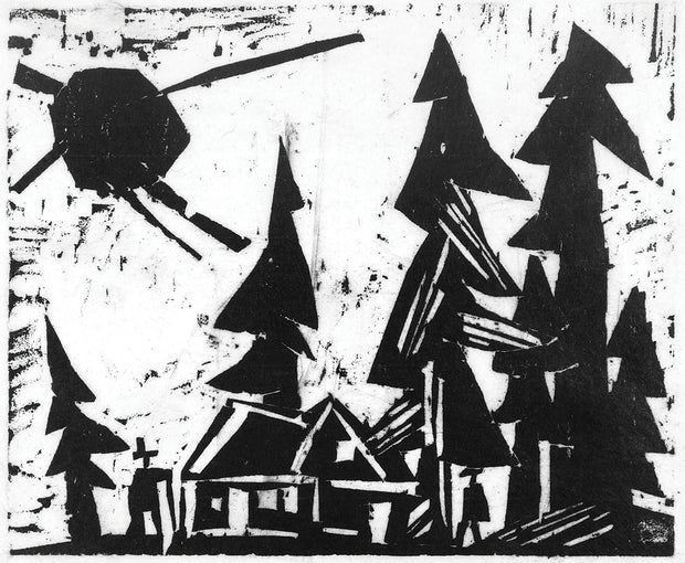 Fir Trees and Sun (Tannen und Sonne) by Lyonel Feininger - Davidson Galleries