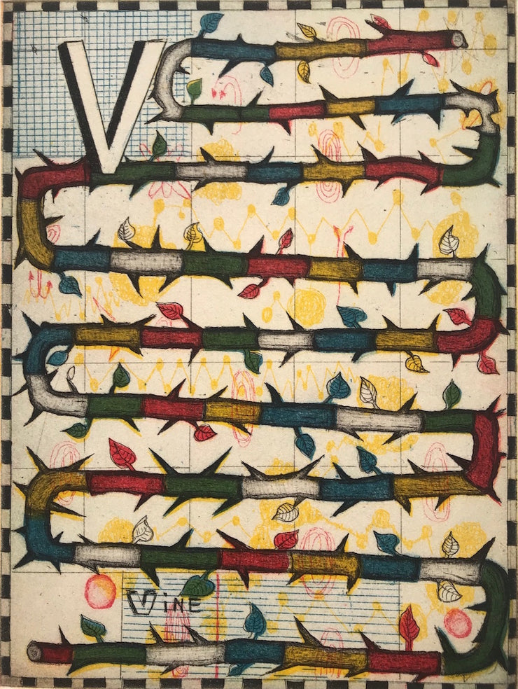 V by Tony Fitzpatrick - Davidson Galleries