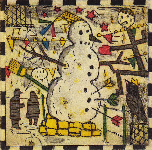 Chicago Snowman by Tony Fitzpatrick - Davidson Galleries