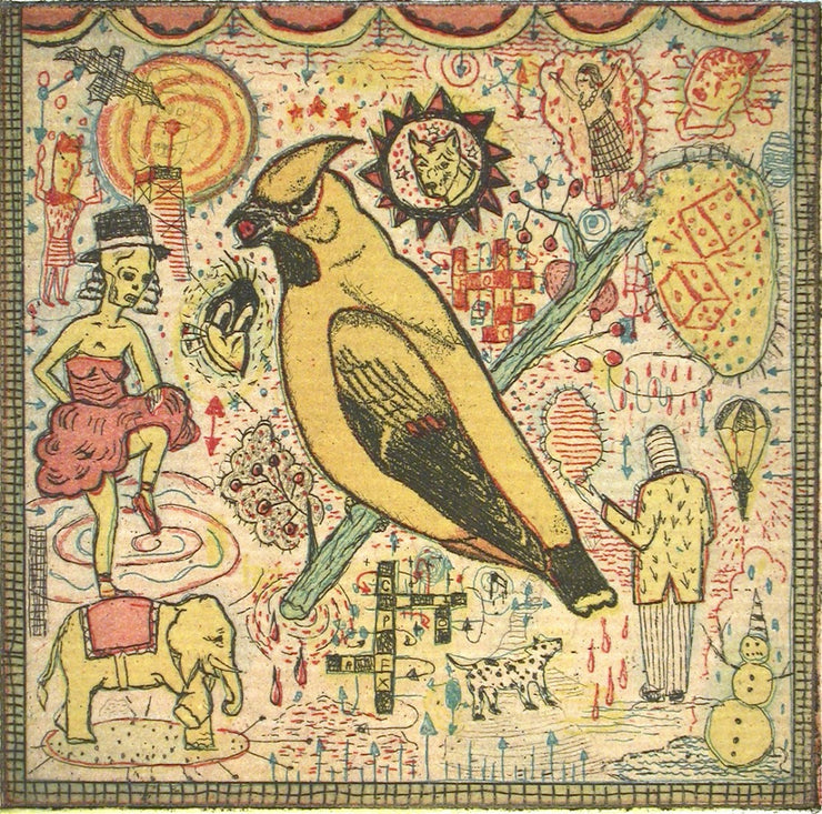 The Conjured Bird by Tony Fitzpatrick - Davidson Galleries