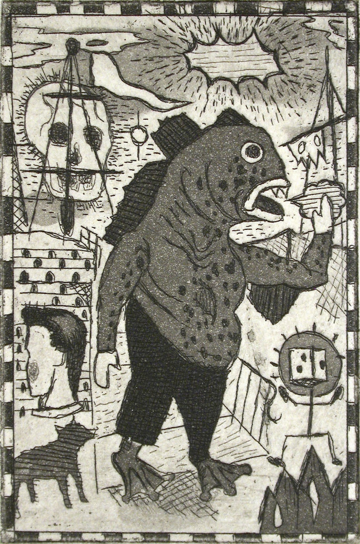 Fishman by Tony Fitzpatrick - Davidson Galleries
