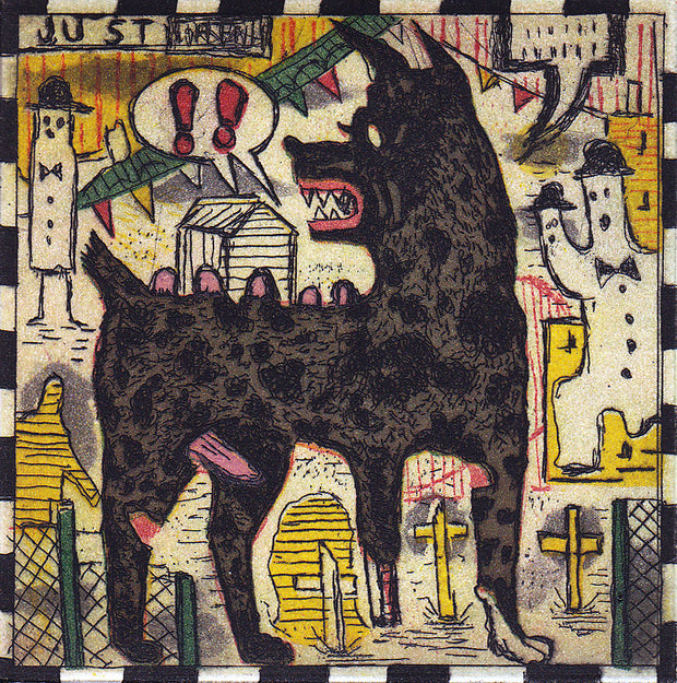 The Grey Dog by Tony Fitzpatrick - Davidson Galleries