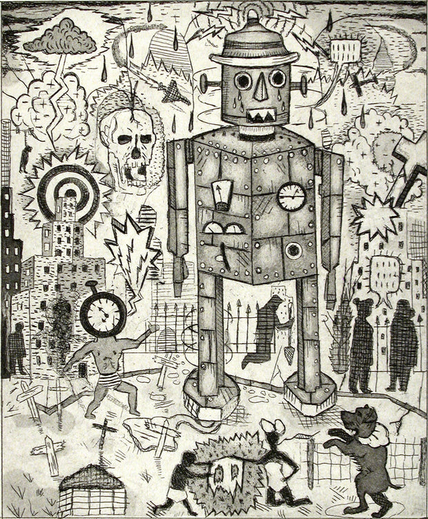 The Sad Robot by Tony Fitzpatrick - Davidson Galleries
