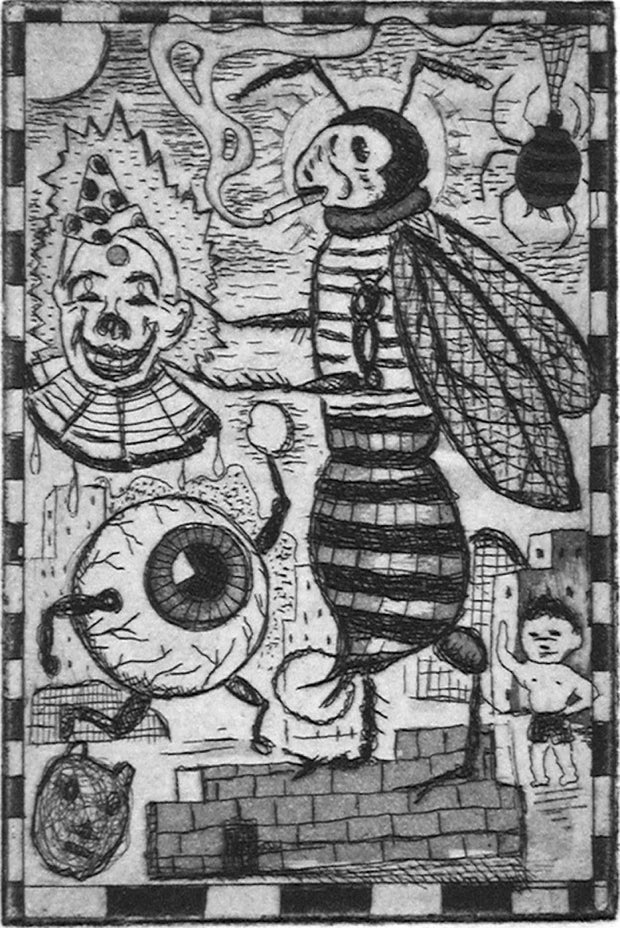 Summer Bug by Tony Fitzpatrick - Davidson Galleries