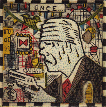 Ice Man by Tony Fitzpatrick - Davidson Galleries