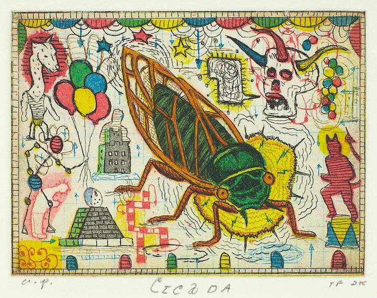 Cicada by Tony Fitzpatrick - Davidson Galleries