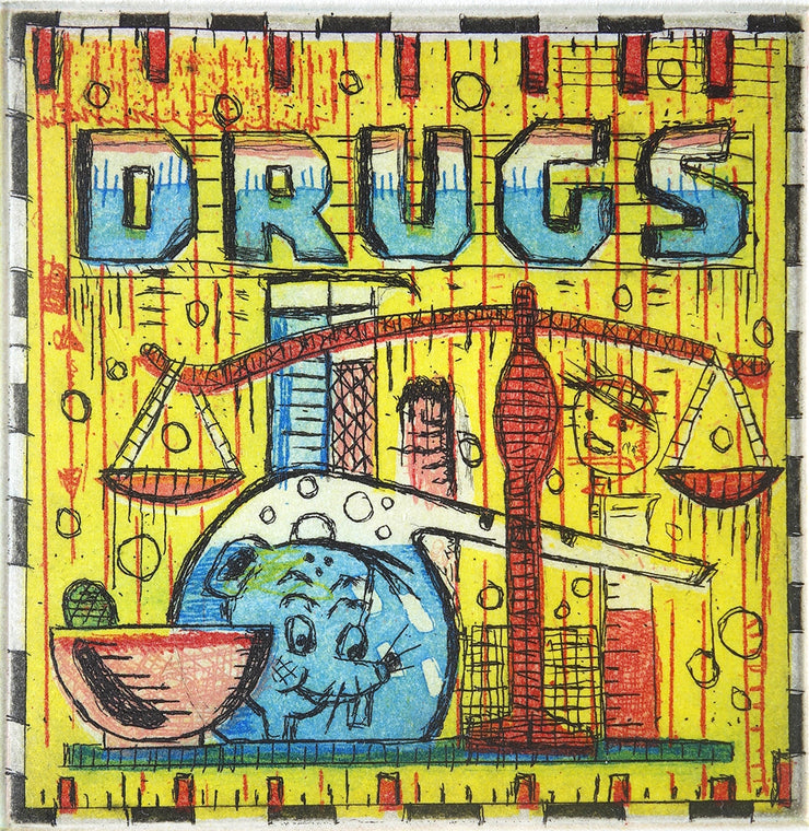 Drugs by Tony Fitzpatrick - Davidson Galleries