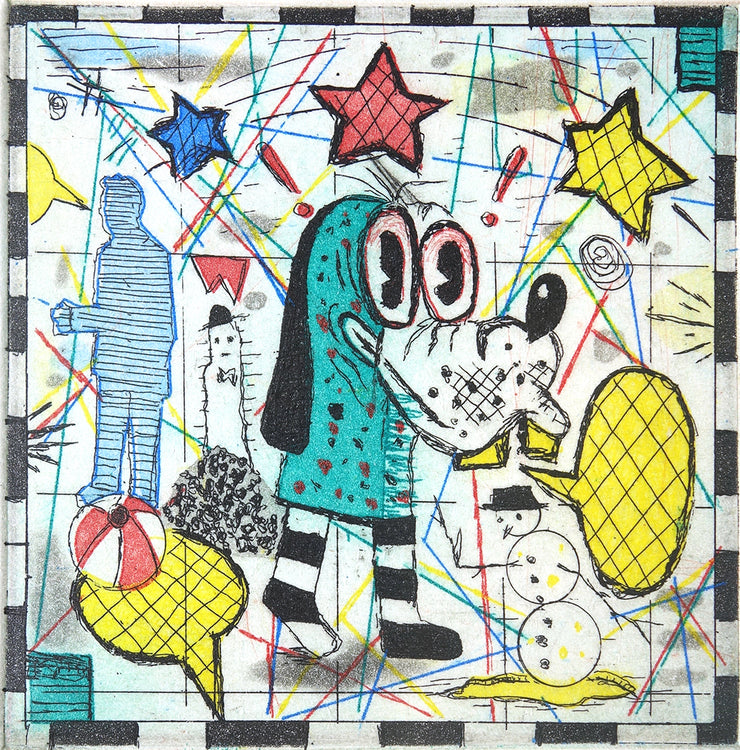 Jail Dog by Tony Fitzpatrick - Davidson Galleries
