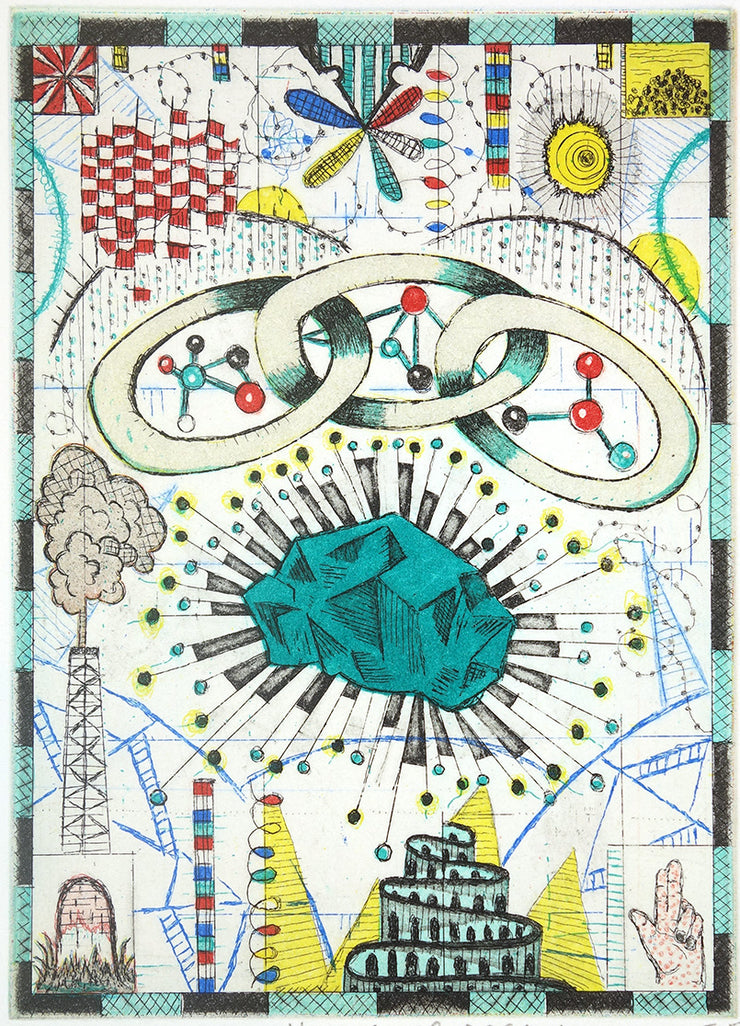 The Chain Gang Dreams of Kryptonite by Tony Fitzpatrick - Davidson Galleries