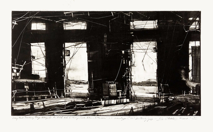 Long Haul Tracking Bays Alongside Airfield And Estuary (Late Autumn Afternoon) by Kevin Fletcher - Davidson Galleries