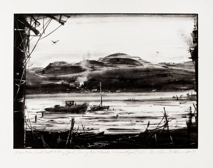 View From Small Craft Fitting Yard, Daring April Dusk by Kevin Fletcher - Davidson Galleries