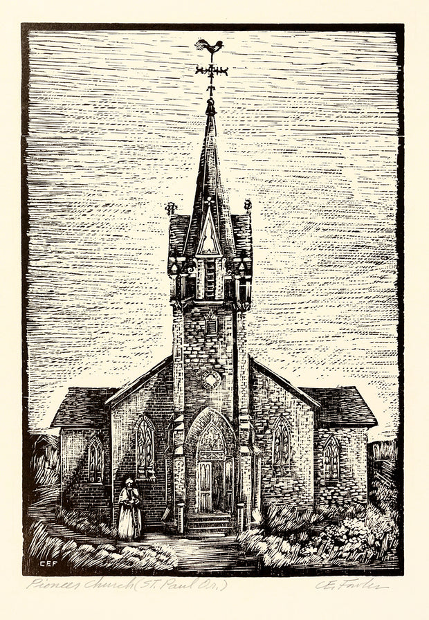 Pioneer Church (St. Paul, OR) by Constance E. Fowler - Davidson Galleries