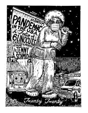 Pandemic Pandemonium (Suite of 6 linocuts) by Jenny Schmid - Davidson Galleries