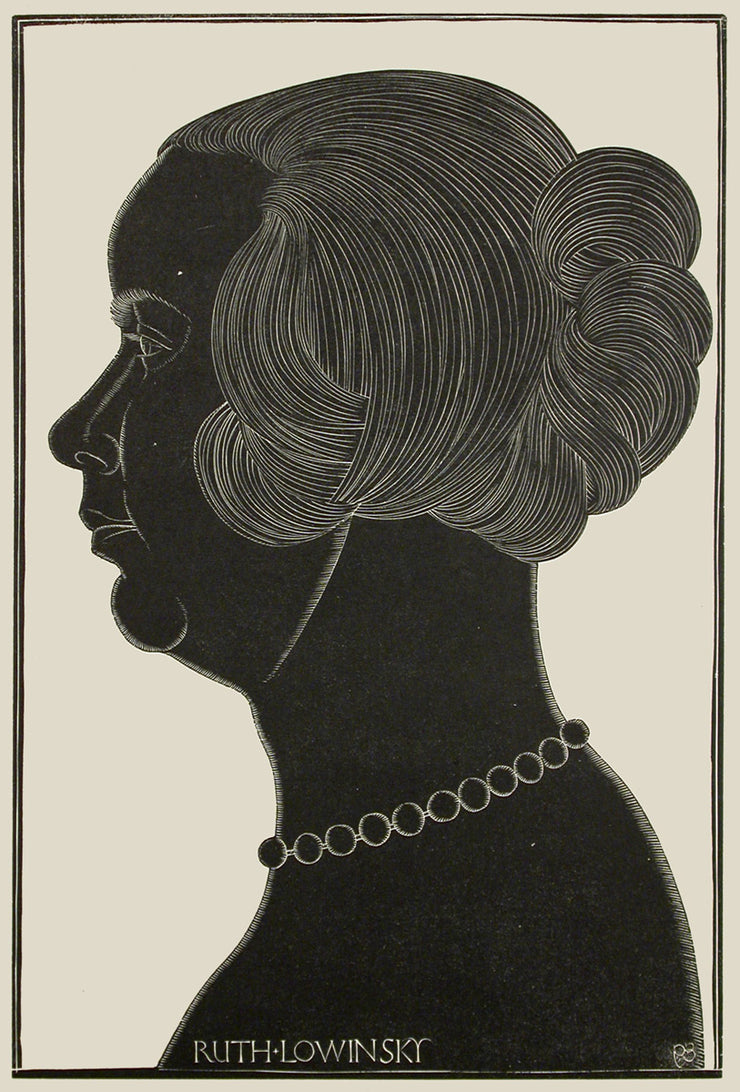 Portrait of Ruth Lowinsky by Eric Gill - Davidson Galleries