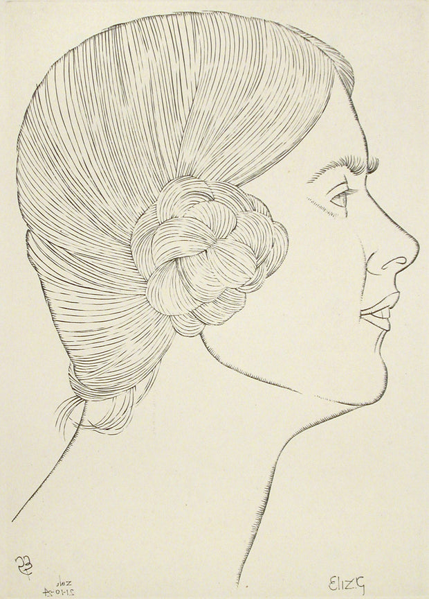 Portrait of Elizabeth Gill by Eric Gill - Davidson Galleries