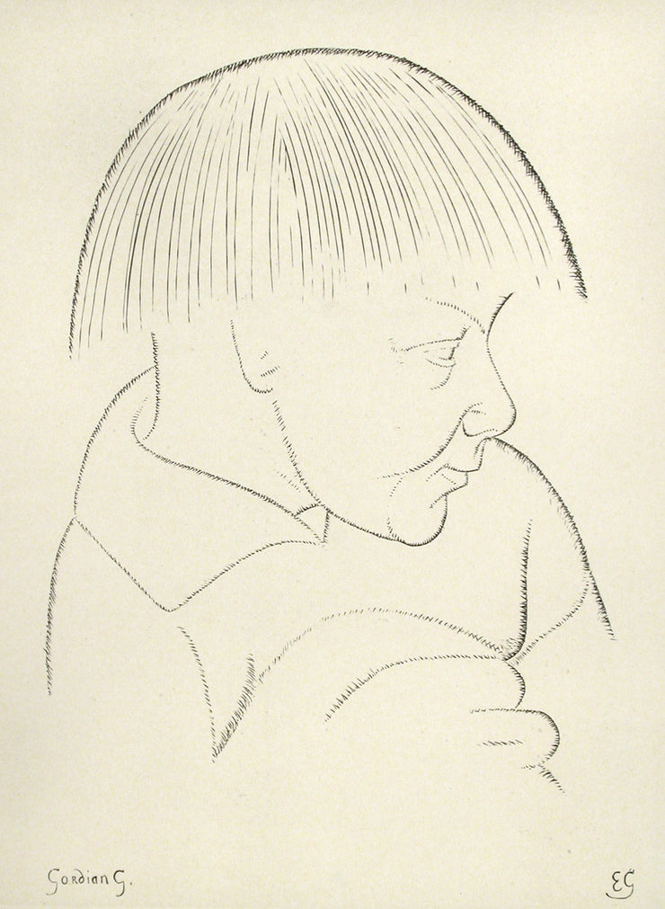 Portrait of Gordion Gill by Eric Gill - Davidson Galleries