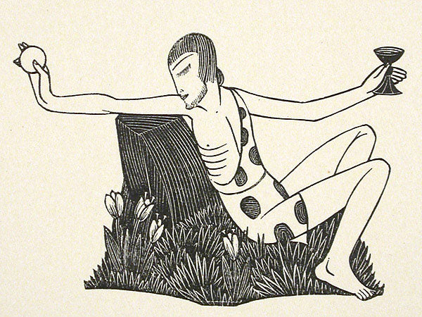 My Love Among the Lilies by Eric Gill - Davidson Galleries