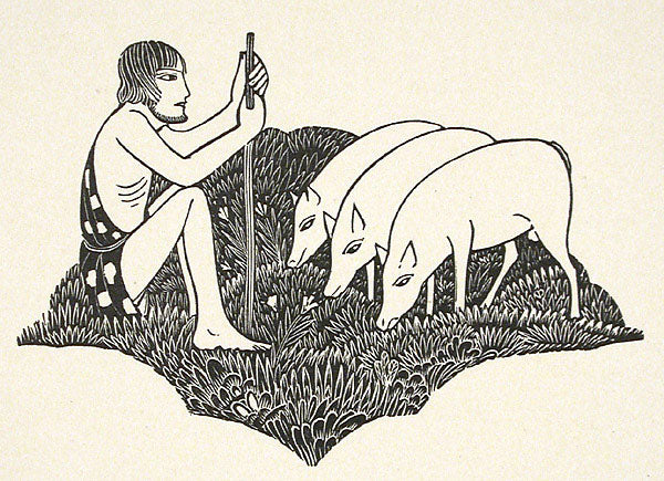 Swineherd by Eric Gill - Davidson Galleries