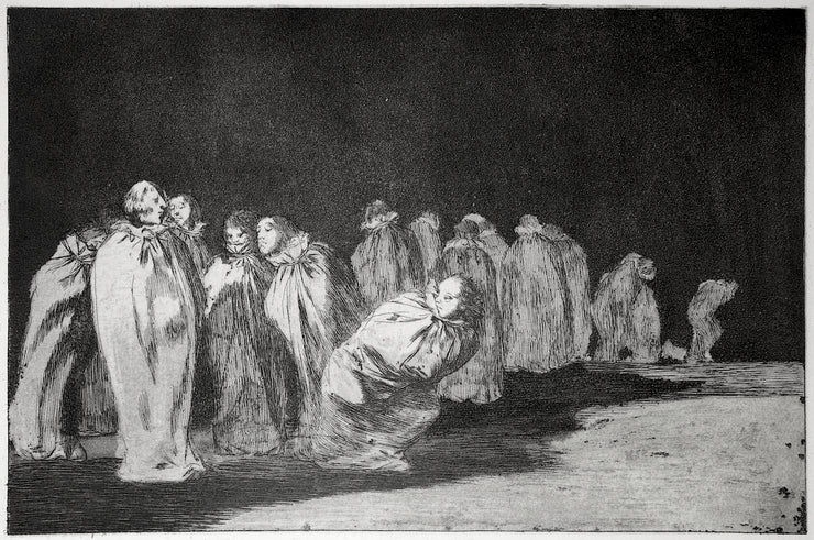 Plate 8. So El Sayal, Hay Al (There Is Something Beneath The Sackcloth, i.e. You Can't Judge A Man By His Clothes) / Los Ensacados (The Men In Sacks) by Francisco Goya - Davidson Galleries