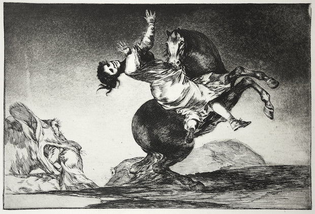 Plate 10. La Mujer Y El Potro, Que Los Dome Otro (A Woman And A Horse, Let Someone Else Master Them) / El Caballo Raptor (The Horse-Abductor) by Francisco Goya - Davidson Galleries