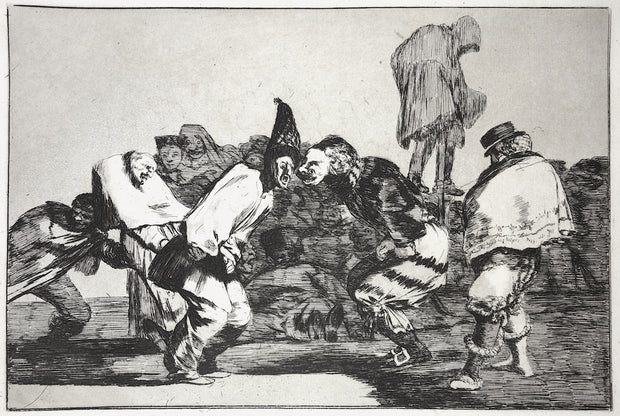 Plate 14. Alegrias Antruejo, Que Mañana Seras Ceniza (Rejoice, Carnival, For Tomorrow Thou Will Be Ashes) / Disparate De Carnabal (Carnival Folly) by Francisco Goya - Davidson Galleries