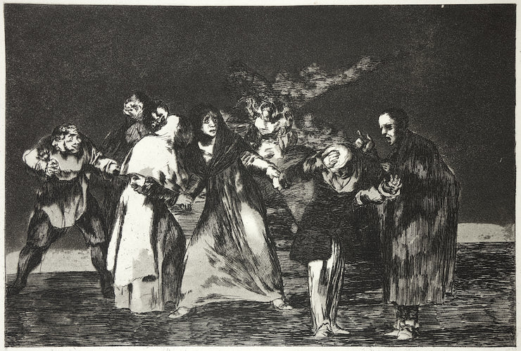 Plate 16. Sanan Cuchilladas Mas No Malas Palabras (Wounds Heal Quicker Than Hasty Words) by Francisco Goya - Davidson Galleries