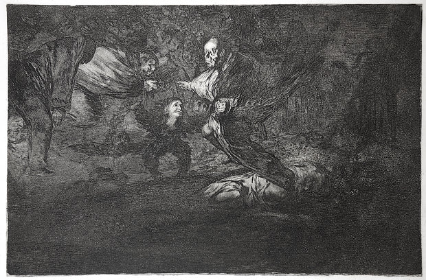 Plate 18. Dios Los Cria Y Ellos Se Juntan (God Creates Them And They Join Up Together) by Francisco Goya - Davidson Galleries