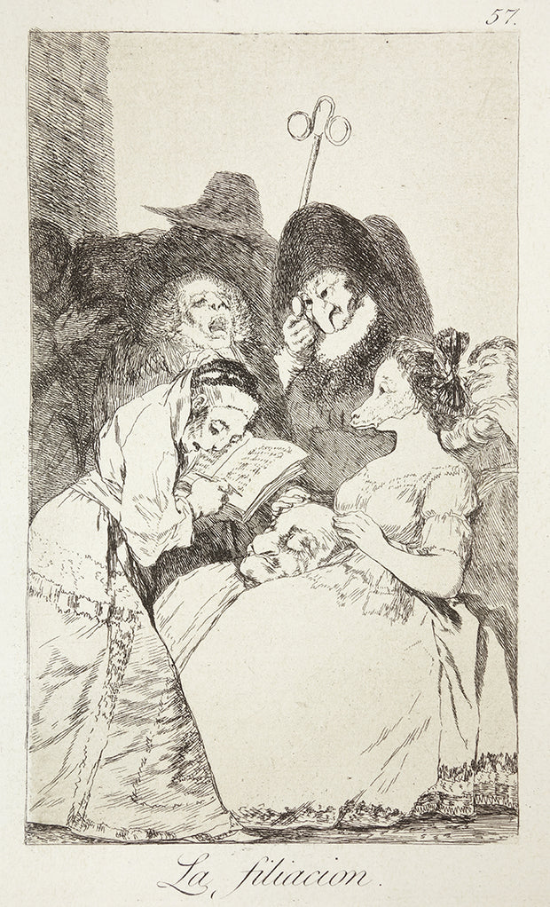 La Filiacion (The Filiation) by Francisco Goya - Davidson Galleries