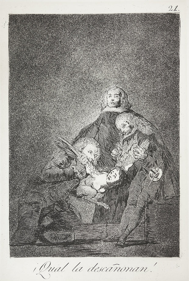 ¡Qual la descañonan! (How They Pluck Her!) by Francisco Goya - Davidson Galleries