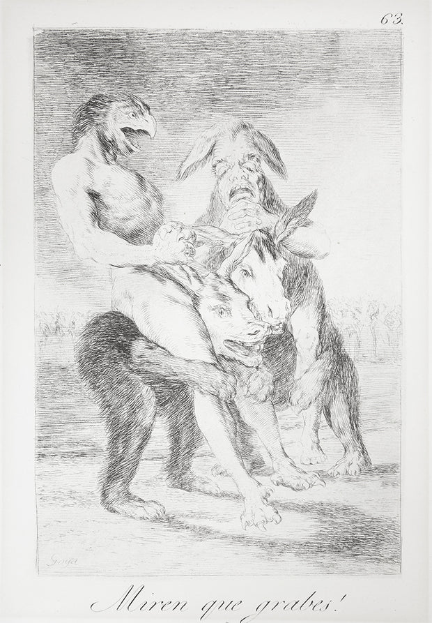 ¡Miren que grabes! (Look how solemn they are!) by Francisco Goya - Davidson Galleries