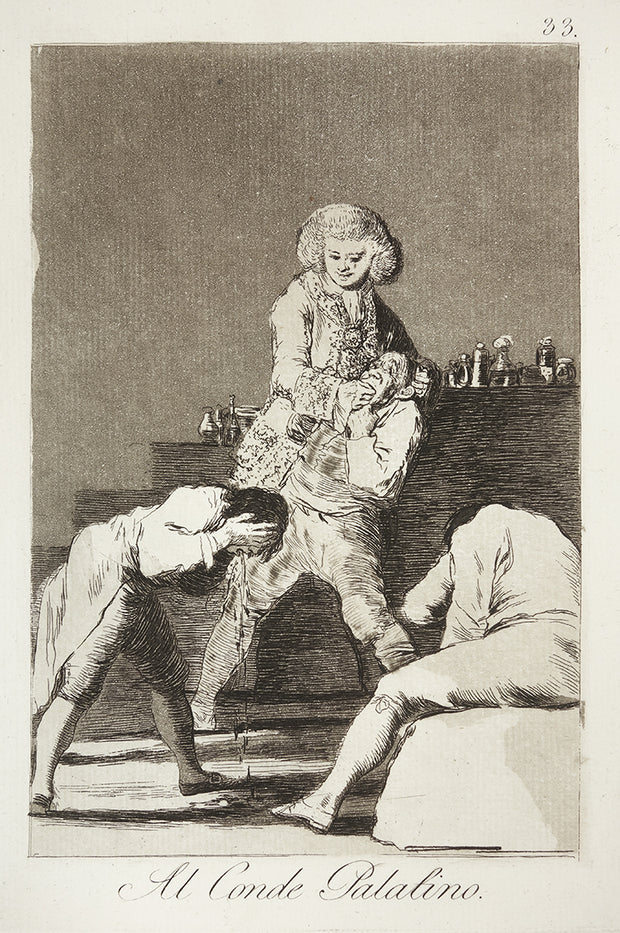 Al Conde Palatino (To the Count Palatine) by Francisco Goya - Davidson Galleries