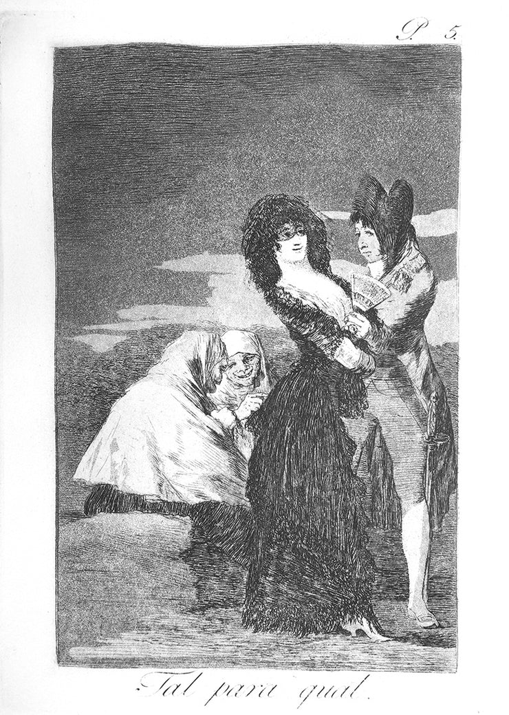 Tal para qual (Two of a Kind) by Francisco Goya - Davidson Galleries
