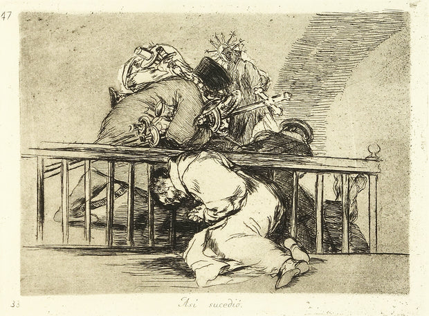 Así Sucedió (This Is How It Happened) by Francisco Goya - Davidson Galleries