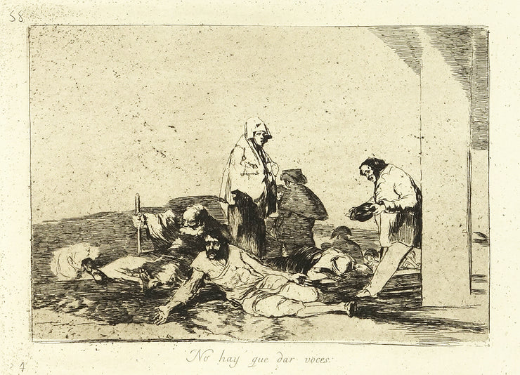 No Hay Que Dar Voces (It's No Use Crying Out) by Francisco Goya - Davidson Galleries