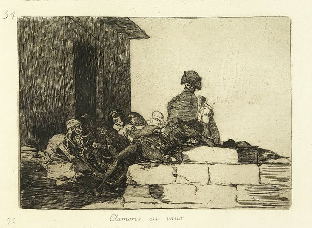 Clamores en vano (Appeals Are In Vain) by Francisco Goya - Davidson Galleries