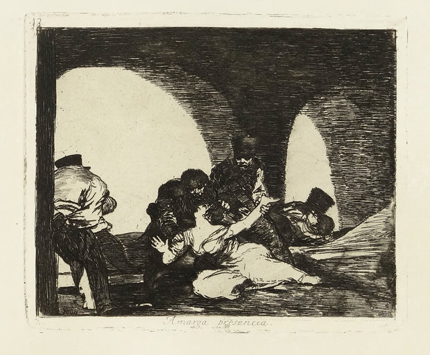 Amarga Presencia (Bitter To Be Present) by Francisco Goya - Davidson Galleries
