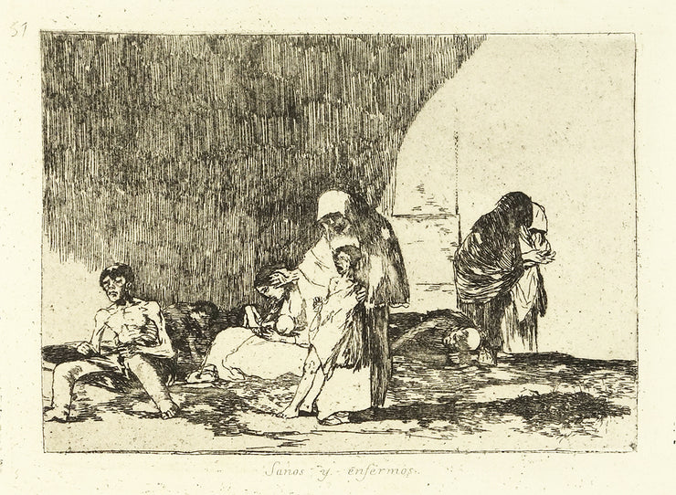 Sanos y Enfermos (The Healthy and The Sick) by Francisco Goya - Davidson Galleries