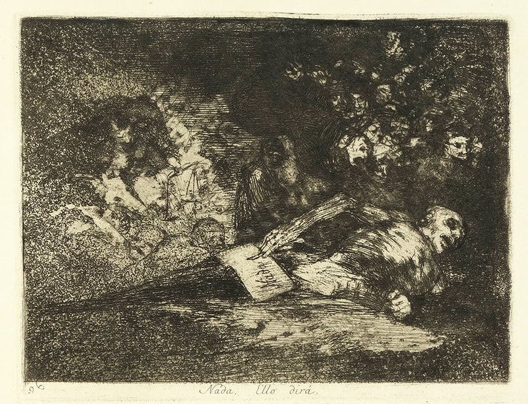 Nada. Ello dirá. (The Event Will Tell) by Francisco Goya - Davidson Galleries