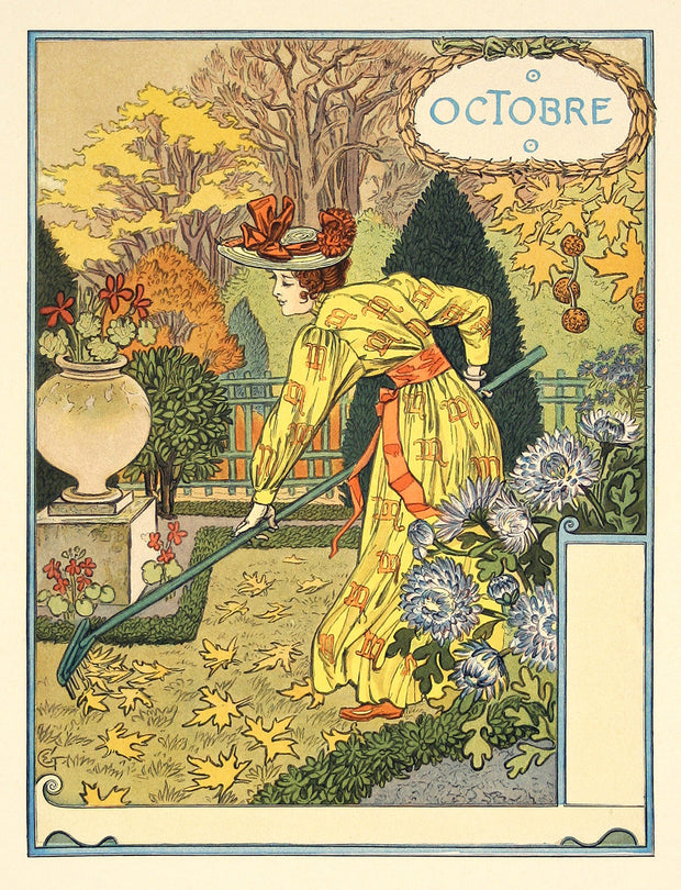 Octobre (October) by Eugène Grasset - Davidson Galleries